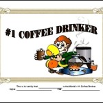 Coffee Drinker Funny Certificate Template PDF