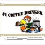 Coffee Drinker Funny Certificate Template PDF