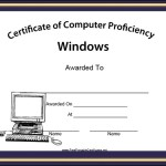 Computer Proficiency Training Completion Certificate