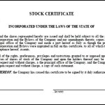 Create Your Own Stock Certificate Template Online