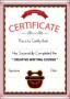 Creative Writing Certificate