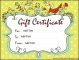 Customizable Gift Certificate Template Word Doc
