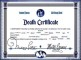 Death Certificate Copy Template Download Word