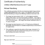 Download Certificate of Authenticity PDF