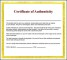 Download Certificate of Authenticity Template