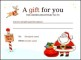 Download Christmas Gift Certificate Template