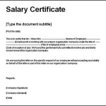 Download Salary Certificate From Company Free