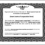 Eagle Stock Certificate Template