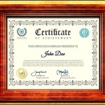 Editable Certificate of Achievement