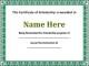 Editable Scholarship Certificate Template Word Format