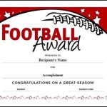 Editable Youth Certificate Football Award Template