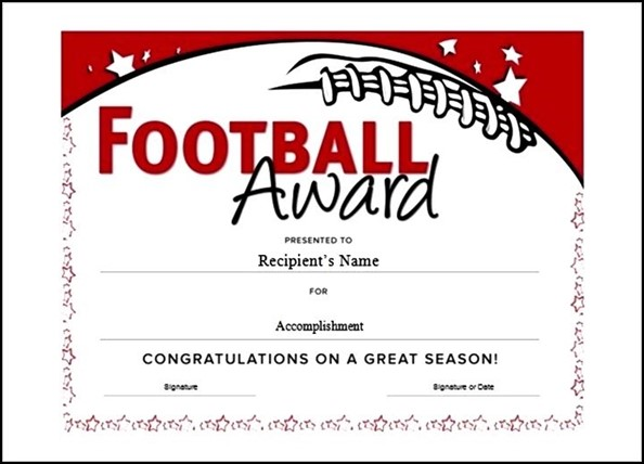 Editable youth certificate football award template sample editable youth certificate football award template yelopaper Choice Image