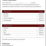 Elegant Salary Certificate Template Free