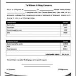 Employee Salary Certificate Template MS Word