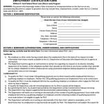 Employment Certification Form