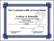 Example Football Achievement Certificate Template