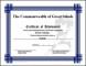 Example Football Achievement Certificate Template