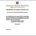 Example Life Membership Certificate PDF