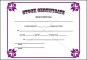 Example of Stock Certificate Template