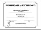 Excellence School Certificate Template Free