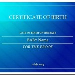 Fake Birth Certificate Template Example Online