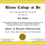Fake Business School Certificate Template Create Online