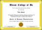 Fake Business School Certificate Template Create Online