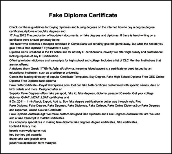fake diploma certificate template pdf sample templates