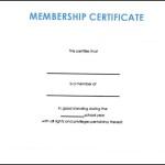 Fake Membership Certificate Pdf