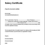 Fake Salary Certificate Template Printable Format