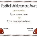 Football Award Certificate Template Blank