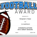 Football Certificate Template Word