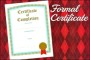 Formal Graduation Certificate of Completion