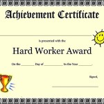 Free Achievement Certificate Template