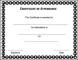 Free Attendance Certificate Template PDF Printable