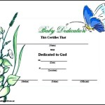 Free Baby Dedication Certificate