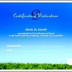 Free Baby Dedication Certificate Template