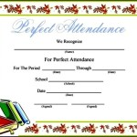 Free Blank Printable Attendance Certificate Template
