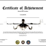 Free Certificate of Achievement in Phisical Fitness