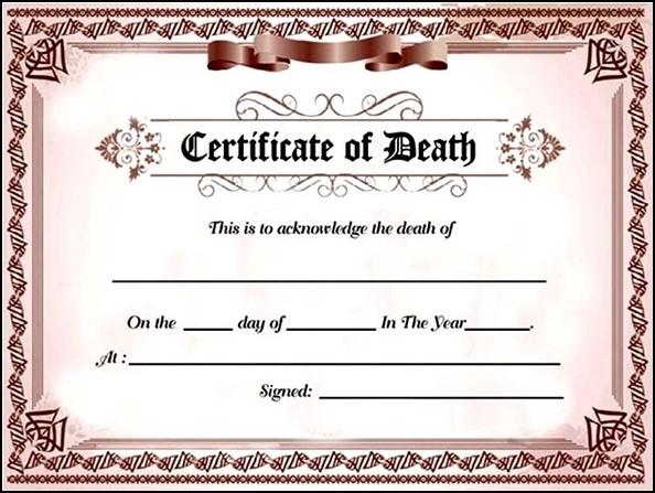 Fake Death Certificate Generator Free
