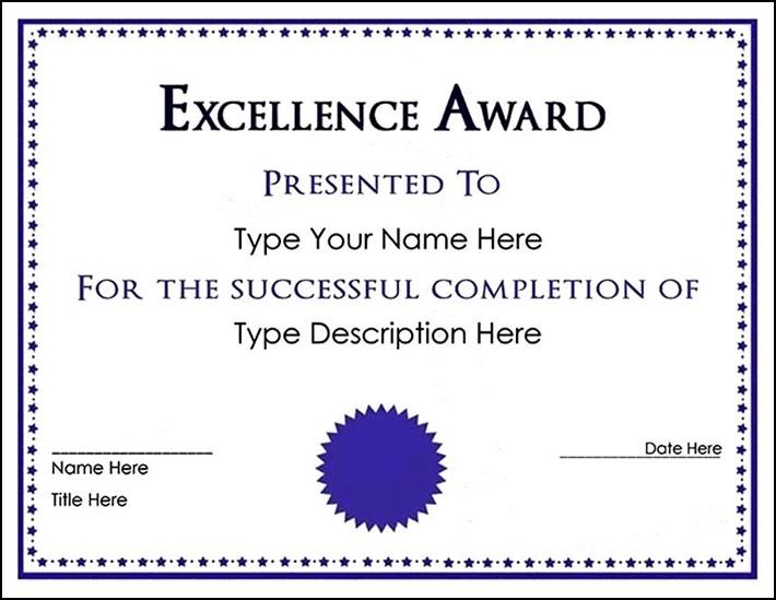 Free Downloadable Certificate Template Sample Templates Sample