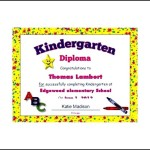 Free Editable Kindergarten Diploma Certificate