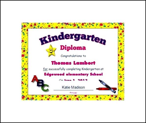 Free editable kindergarten diploma certificate sample templates free editable kindergarten diploma certificate yelopaper Images