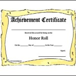 Free Editable Printable Honor Roll Certificate