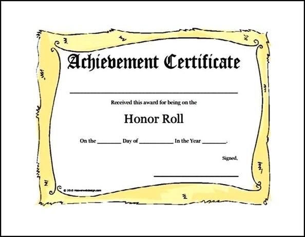 A B Honor Roll Certificate Jones School Supply Honor Roll Free