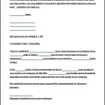 Free Employment Certificate Template This is to Certify Format