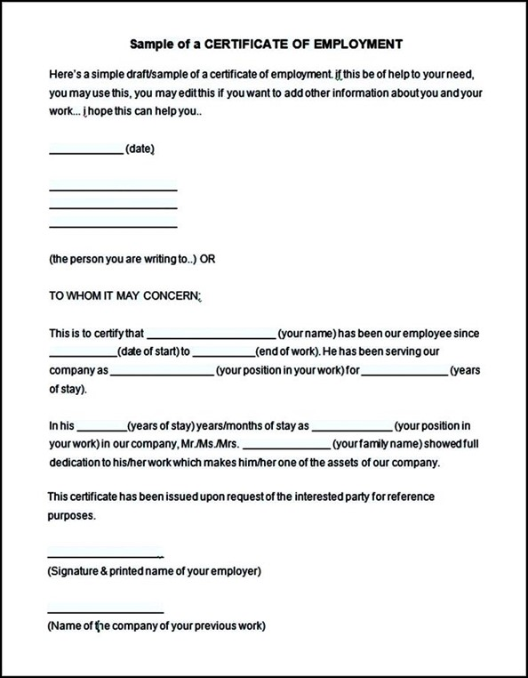 Certificate of employment template uk image collections www employment certificate sample choice image certificate sample employment certificate employer gallery certificate employment certificate sample yadclub Images