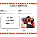 Free Fake Marriage Certificate Template
