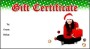 Free Gift Certificate Holiday Christmas Template