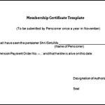 Free Life Membership Certificate Word